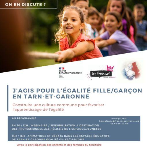 j'agis pour l'égalité fille/garçon en Tarn-et-Garonne